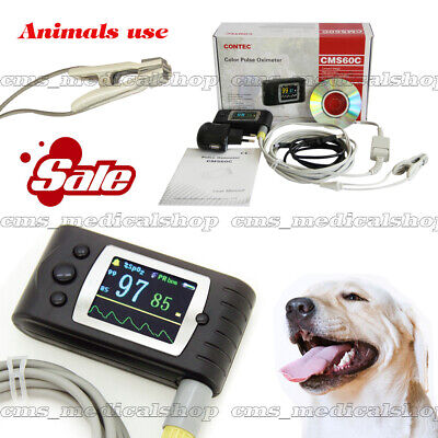 Veterinary Pulse Oximeter Spo2 Pulse Rate Animals Tongueear Oxygenbattery