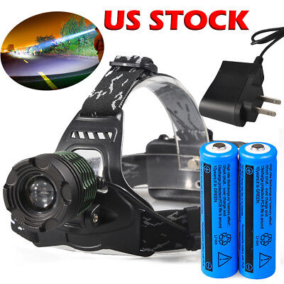 Ultrafire 90000LM T6 LED Super Bright Zoomable Headlamp HeadTorch Flashlight USA