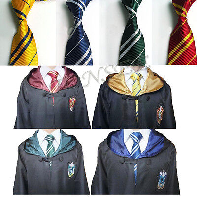 Harry Potter Youth Adult Gryffindor Slytherin Hufflepuff Ravenclaw Tie Costume