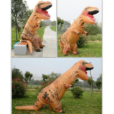 Inflatable Dinosaur Costume T Rex Fancy Dress Adult Halloween Blow Up Suit