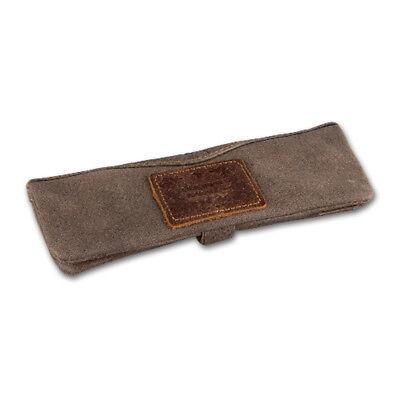 Feinschnitttasche-Tabakbeutel KAVATZA Nubuk-Leder, mit langem Rollbrett, 15 x 6