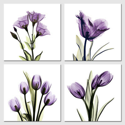 Canvas Prints Painting Picture Photo Wall Art Home Office Decor Purple Flowers