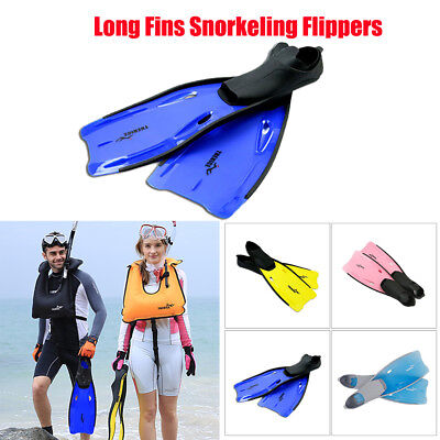 Long Fins Full Foot Swimming Snorkeling Flippers Training Diving Equipment Xp