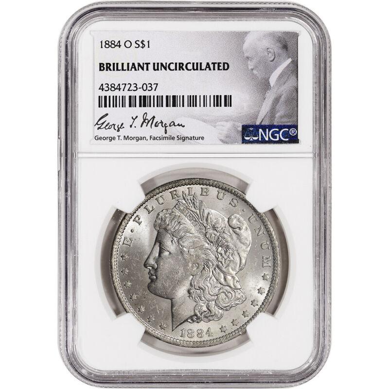 1884-O US Morgan Silver Dollar $1 - NGC Brilliant Uncirculated