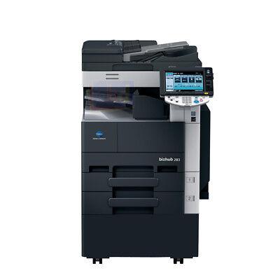 Konica Minolta Bizhub 283 A3 Mono Laser Copier Printer Scanner Mfp 28ppm 363 423