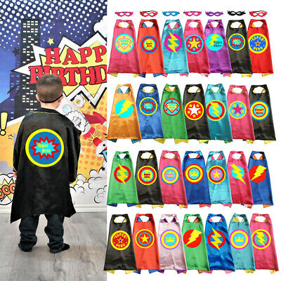 Superhero Capes with Mask Birthday Party Favor Cosplay Gift Halloween Costume](Capes Superhero)