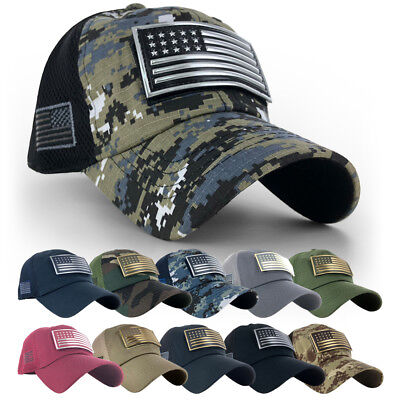 USA American Flag Patch Hat Baseball Trucker Mesh Tactical Military Army cap