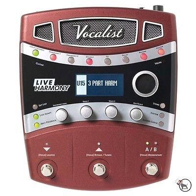 Digitech Vocalist Live Harmony Vocal Guitar FX Multi-Effects Processor Pedal