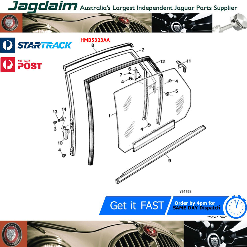 New Jaguar XJ6 XJ XJ40 XJ12 Door Panel Retainer AJU1136J
