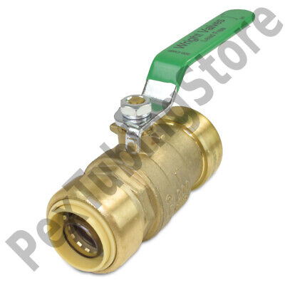1 Sharkbite Style Push-fit Push To Connect Lead-free Brass Ball Valve