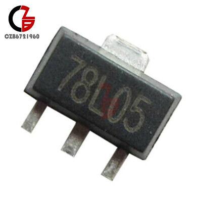 100pcs 78l05 L78l05 7805 Voltage Regulator Sot-89 Smd 5v 100ma