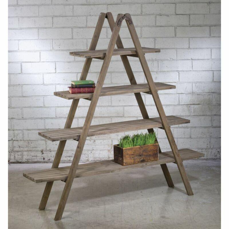 Reclaimed Wood A-Frame Shelf Unit