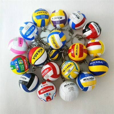 Volleyball Keychain Sport Key Chain Ball Key Ring Gifts For Players -