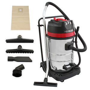 Industrial Vacuum Cleaner Wet Dry Vac Commercial Stainless Steel 80L 3000W