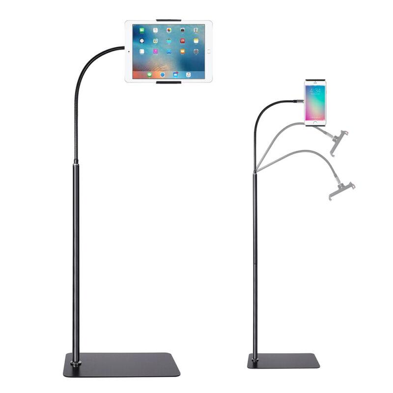 Universal Tablet Floor Stand Adjustable Height Gooseneck iPad Cellphone Holder
