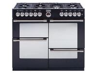 Stoves Sterling 1100 Dual Fuel Ranger Cooker - Black - BRAND NEW IN BOX