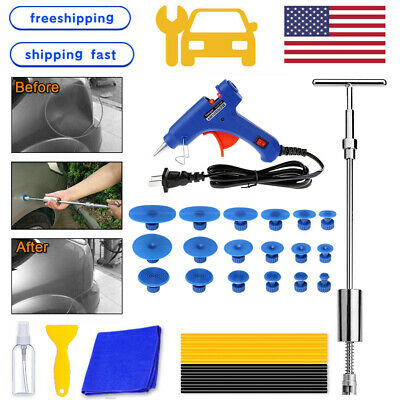 US Car Body Dent Puller Hammer Tool Paintless Hail Damage Remover Repair Kit