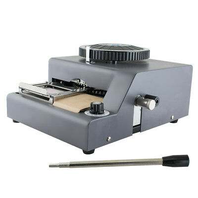 72-character Manual Stamping Machine Pvcidcredit Card Code Printer Embossing