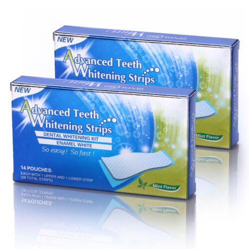 56 Strips Zahnweiß Zahnaufhellung Streifen Whitestrips Weiss Zähne Bleaching NEU