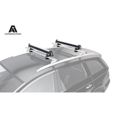 6 Pair Ski Carrier - Universal Ski Snowboard Roof Mount Rack Carriers for 6 Pair Skis or 4 Snowboards