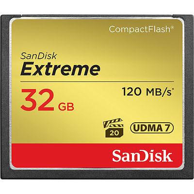 32GB SanDisk CF 120MB/S UDMA7 Extreme SDCFXS-032G CF CompactFlash Card GENUINE R