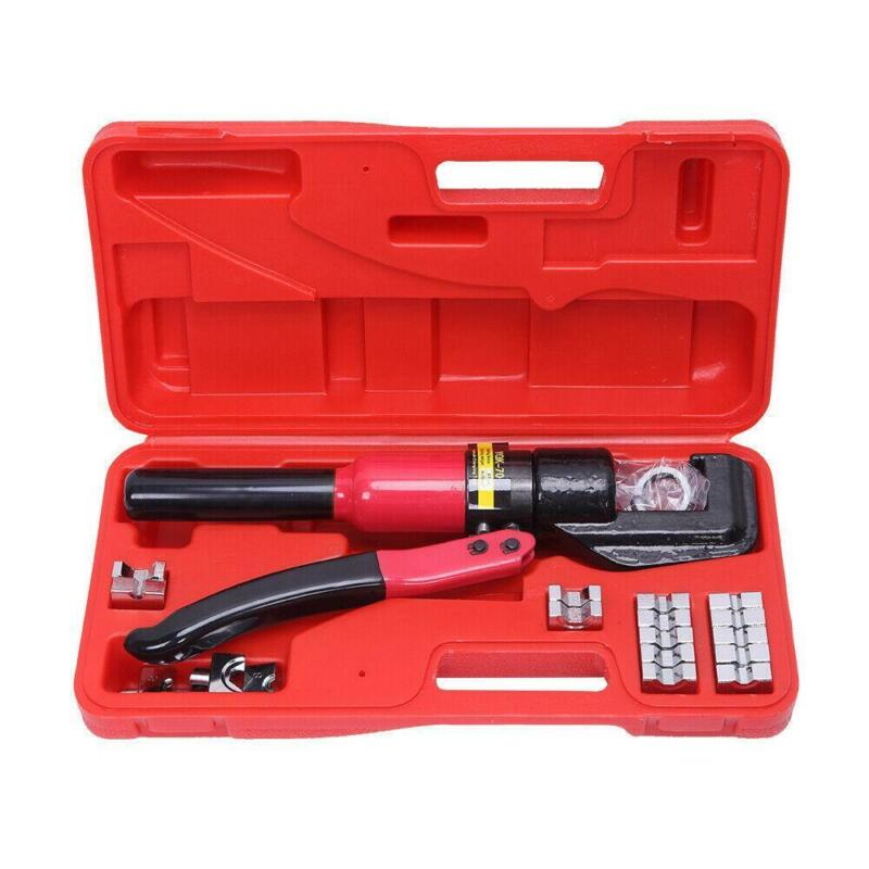 8T 4-70mm Hydraulic Wire Battery Cable Lug Terminal Crimper Crimping Tool +9Dies