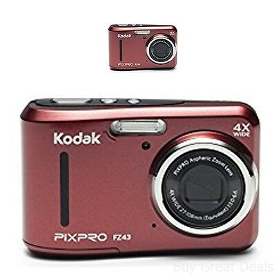 Digital Zoom 2.7in Lcd - Kodak Pixpro Friendly Zoom FZ43 16MP Digital Cam w 4X Optical Zoom and 2.7in LCD