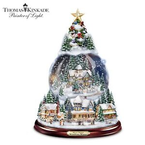 Thomas Kinkade Wondrous Winter Christmas Tree Snowglobe