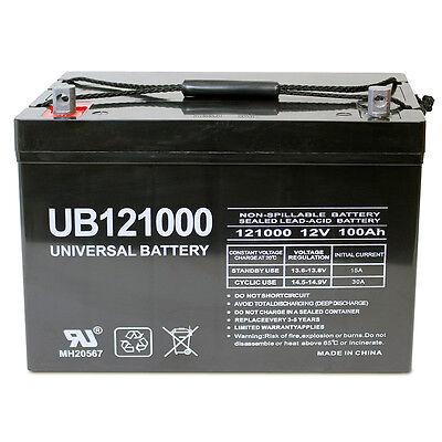 UPG 12V 100Ah Battery for AIMS Power (PWRINV1250W) 1250W Power Inverter