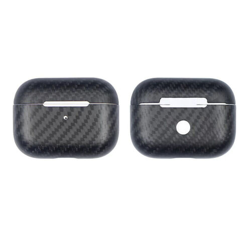 Airpods Pro 3 Case Genuine Carbon Fiber Slim Fit Super Thin Shockproof Aramid Fiber Cover And Skin Compatible With Apple Airpods Pro Earbuds Accessories Matte Black Cases