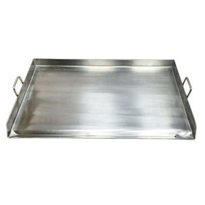 Heavy Duty Stainless Steel Double Burner Convex Griddle Plancha 32 Inch