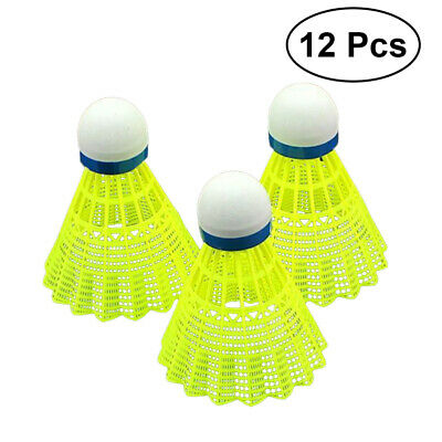 12pcs Train Nylon Shuttlecocks Badminton Ball Sport Training Outdoor Game UK