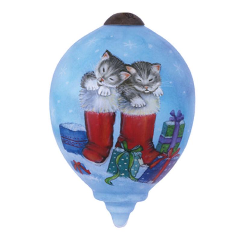 Kittens Snow Day Ornament Santa Boots Ne