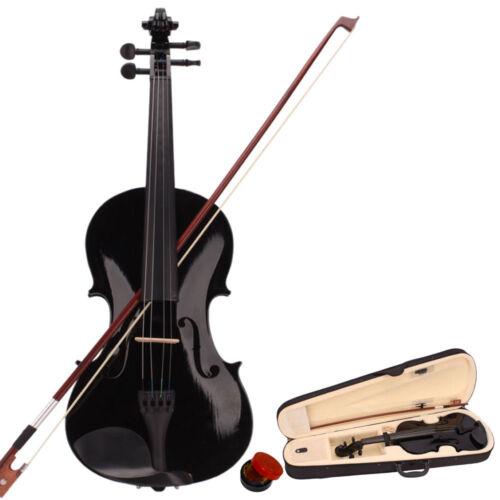 New 8 Colors 4/4 Full Size Basswood Acoustic Violin  w/ Case Rosin Bow Bridge