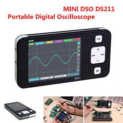 Digital Mini Ds211 Oscilloscope Automotive Lcd Professional Arm Nano Mcx Probe