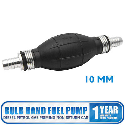 10mm Fuel Primer Bulb Hand Pump Diesel Petrol Gas Priming Non Return Car Black