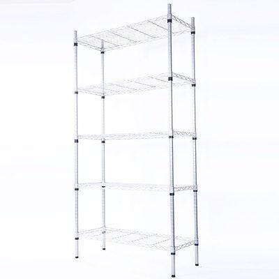 5-tier Steel Wire Metal Shelving Adjustable Steel Heavy Duty Storage Unit Shelf