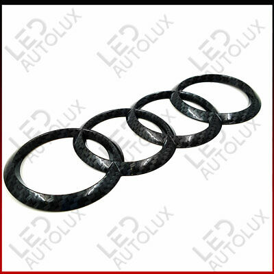 Carbon Fibre Rear Back Badge Ring Logo Emblem Audi A6 C7 Q5 Q7 Sticker 215x75mm