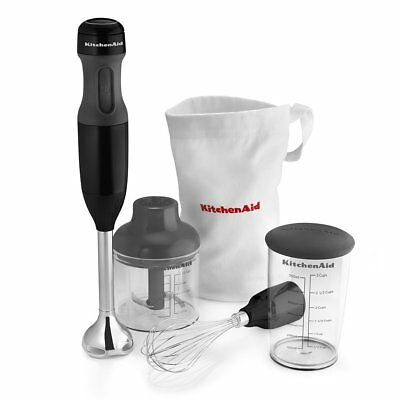 KitchenAid 3-Speed Immersion Hand Blender RKHB2351OB Black blend chop crush Mix