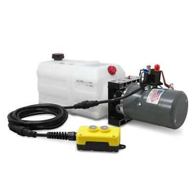 Single Acting Hydraulic Pump For Dump Trailers Kti - 12vdc - 6 Quart Reservoir