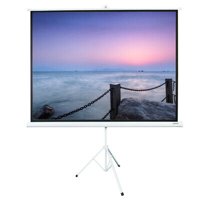 100 Ratio 43 Projection Projector Screen Manual Pull Up Stand Tripod