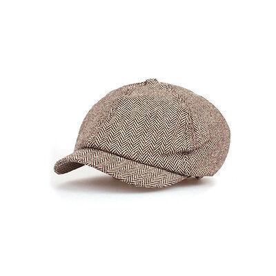 71138a7acdc Unisex Mens Herringbone Baker Boy Newsboy Cabbie Gatsby Flat Cap Ivy Hats  Beige