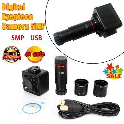 5mp 720p Usb Camera Microscope Digital Eyepiece Cmos Industrial 0.5x Adapter Neu