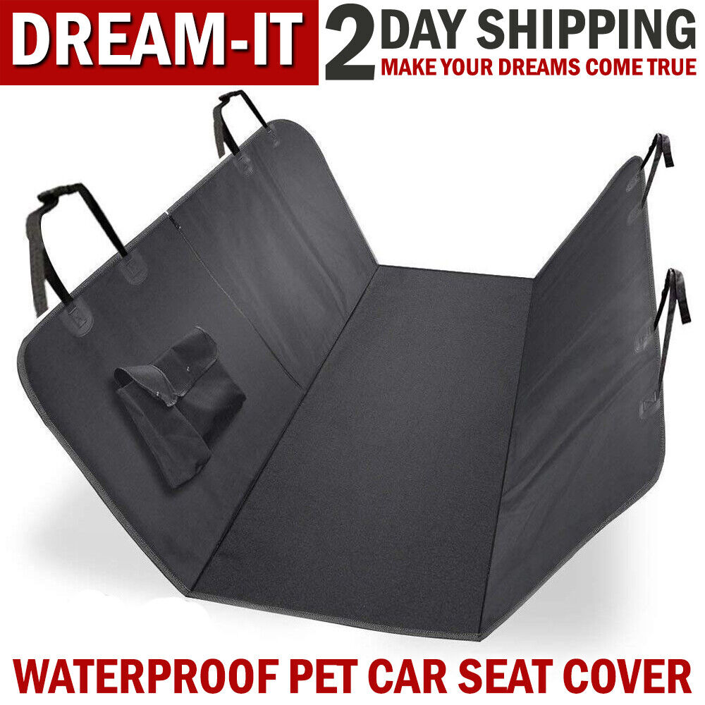 Car Parts - Waterproof Dog Car Seat Cover Hammock for Pet Car Back/Rear Bench Pad Mat Covers