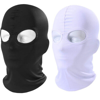 Black Breathable Face Cover Spandex Zentai Costume Hood Mask Halloween Mask - Black Face Mask Costume