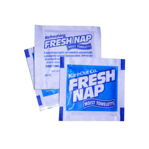 Lot Of 200 Kari-Out Moist Towelettes Fresh Nap Wet Wipes Individually Wrapped