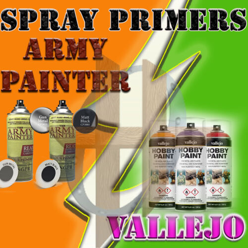 Miniatures Spray On Primers Army Painter & Vallejo Hobby Spray Paint 5% Off 2+