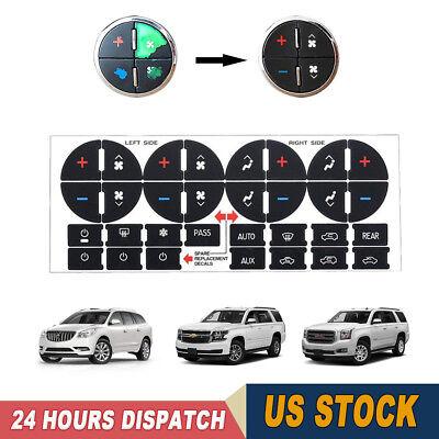 AC Dash Button Repair Sticker Decal For GM Tahoe Suburban Avalanche Silverado 31