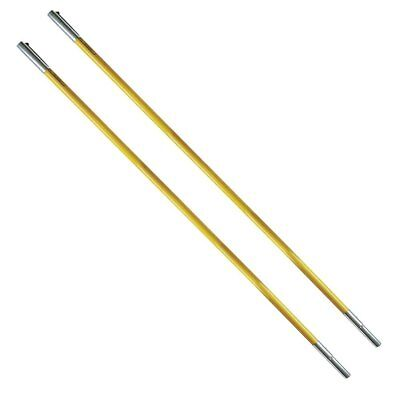 2 Pack of Jameson FG-6 Hollow Core 6' Fiberglass Extension Poles