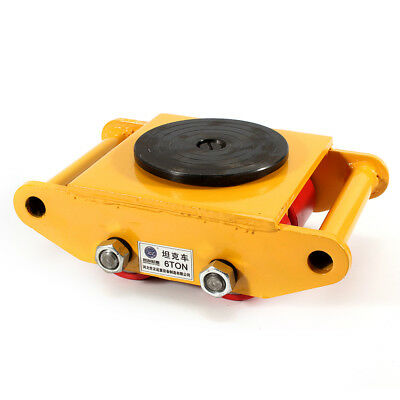 15kg 3t-6t Machinery Roller Mover Machine Skate Trolley Cast Steelpu Yellow Usa